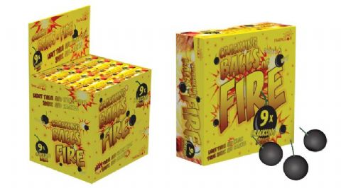 Crackling Balls of Fire 9 Pieces